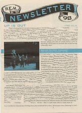 R.E.M. Fanclub Newsletter 1998 Vol.3
