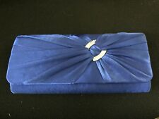 Ladies Satin Clutch Bag with Shoulder Chain  Evening Wedding Party Prom  Handbag
