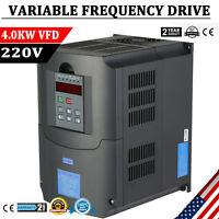 4KW 5HP 220V Variable Frequency Drive Inverter CNC VFD VSD Single To 3 Phase