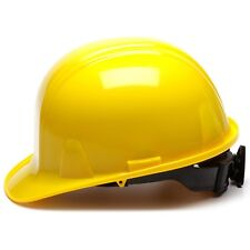 Pyramex Cap Style Hard Hat with 4 Point Ratchet Suspension, Yellow