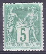 "FRANCE STAMP TIMBRE YVERT N° 75  "" TYPE SAGE 5 c VERT 1876 "" NEUF xx TTB   M953"