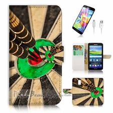 ( For Samsung S5 ) Wallet Case Cover! P2086 Darts