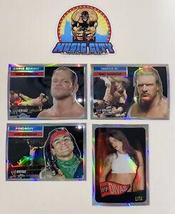 2006 2007 2008 Topps Chrome WWE 23 Card Refractor & XFractor Lot Chris Benoit