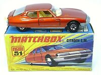 Matchbox Lesney No.51d Citroen SM In Type 'I1' With 'NEW' Box (MINT MODEL)