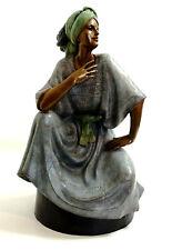 """1989 Victor Gutierrez LUZMAN Bronze Sculpture 20.5"""" Tall Limited Edition 71/200"""
