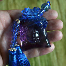 Liuli Crystal Wall Car Hanging Ornaments Money Bag Unique Feng Shui Fortune Gift