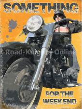 Something for the Weekend, Man Cave Motorbike, Medium Metal/Steel Wall Sign
