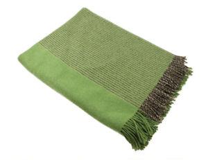 "New Merino Wool Blanket 75"" x 58"" Soft Made in Ireland John Hanly & Co."