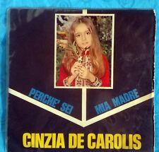 CINZIA DE CAROLIS voce di Lady Oscar - Perchè sei mia madre/A mamma mia 45 GIRI
