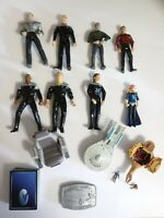 Vintage Star trek Action Figures Lot Micro Minis Chair 1990s 1983 Buckle Cards