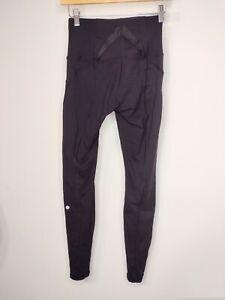 Size 4 Lululemon Exquisite Pant Shine Dot Black / Black Full-On Luon