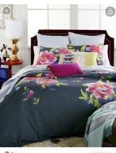 NIP Bluebellgray Butterfly Moonlight Blue Full/Queen Comforter & Shams Set 3pc