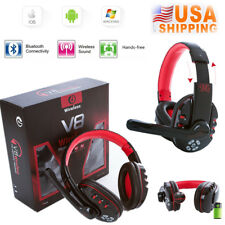 V8 Wireless Bluetooth Gaming Headset Earphone Headphone For Phones Tablet PC MP3