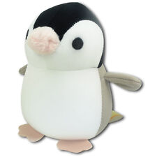 Baby Gray Penguin Nylon Stuffed Animals Soft Plush Microbead Foam Keychain New