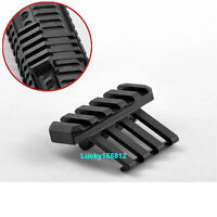 Low Profile Tactical 45 Degree Offset Angle Mount 5 Slot Picatinny Weaver Rail
