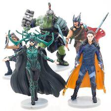 Marvel Thor Ragnarok Hulk Hela Loki Valkrie Cake Toppers Figurines Disney MCU