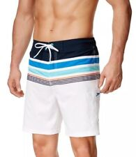 $59 Speedo Nautical Swim Bottom Men's Size SMALL Board White Shorts NWT