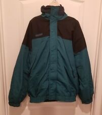 Columbia Mens Large Tall Coat Jacket Parka Green Navy Black Insulated Nylon