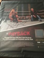 NEW WWE Natalya SIGNED Payback 2016 Ring Canvas Plaque Limited Edition