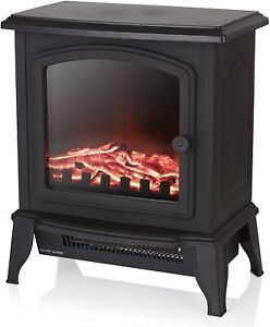 New Stove Garden Heater Burner Wood Burning Effect Electric Fireplace 2000 W