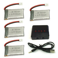 4PCS Syma X5SW X5C X5C-1 550mAh 3.7V Lipo Battery with 4 in 1 Charger For Drone