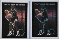 1993-94 Skybox Premium Shaquille O'Neal Future Shock Lot Base And Blue Misprint?