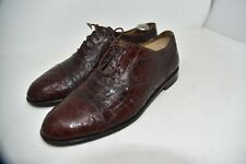 Cole Haan Bragano Alligator  Italy Shoes Brown MEN'S SZ 12 US 11