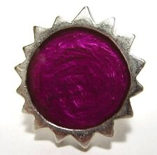 SoHo® Ring Sonne silber Kunstharz violett retro style resin Kaltemail SoHo