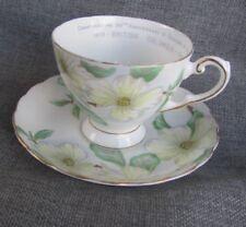 Tuscan China England Dogwood Flower Tea Cup & Saucer 100th anniversary BC