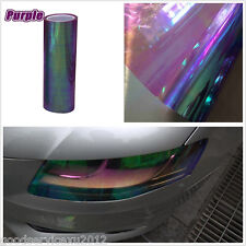 Neo Purple Chameleon 78*12in Car SUV Tint Vinyl Wrap Sticker Headlight Fog Film