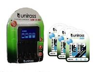 Uniross Charger 4 X AA 2700mah Rechargeable Batteries