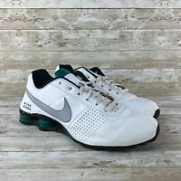 Nike Shox Deliver Mens Size 13 White Leather Athletic Training Running Shoes