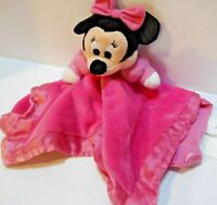 Disney Baby Minnie Mouse Pink Lovey Crinkle Ears Rattle Plush Security Blanket