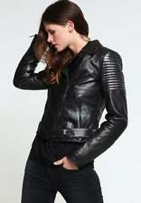 womens Gorgeous JUST CAVALLI LEATHER BIKER JACKET size Italy 44 uk 12 RRP £ 725
