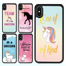 iPhone X 8 8 Plus 7 6 6s 5s SE Case Unicorn Shockproof Bumper Print Cover