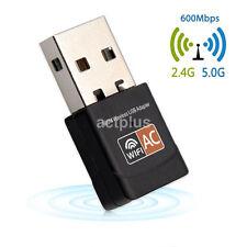 AC600M 600Mbps USB WiFi Adapter Dual Band Mini Dongle For Desktop & Laptop UK