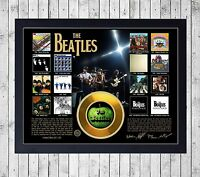 BEATLES DISCOGRAFIA CUADRO CON GOLD O PLATINUM CD EDICION LIMITADA. FRAMED