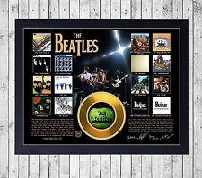 BEATLES DISCOGRAFIA CUADRO CON GOLD O PLATINUM CD EDICION LIMITADA. FRAMED