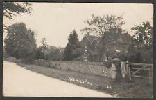 Postcard Kilmeston nr Winchester Hampshire village view posted 1932 RP