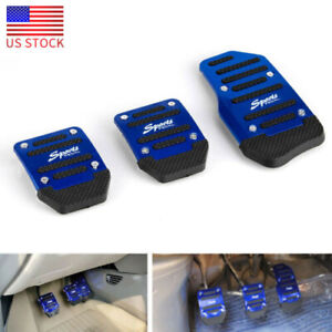 2x Universal Non-Slip Automatic Gas Brake Foot Pedal Pad Cover Car Accelerator