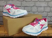 DIADORA LADIES UK 5.5 EU 38.5 WHITE PINK HAWK 5 TRAINERS