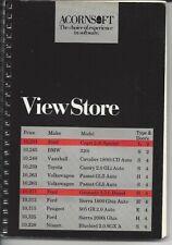 ACORNSOFT Manual - ViewStore