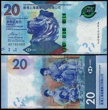 HONG KONG 20 DOLLARS (P NEW) HONGKONG & SHANGHAI BANK 2018 UNC