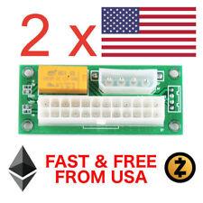 2 x Add2PSU Multiple Power Supply Adapter PC Computer PSU ATX 24PIN MOLEX USA