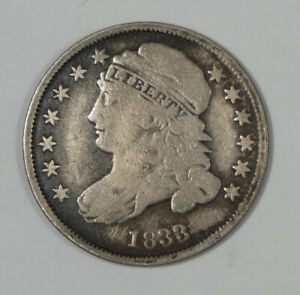BARGAIN 1833 Capped Bust Silver Dime VERY GOOD 10c