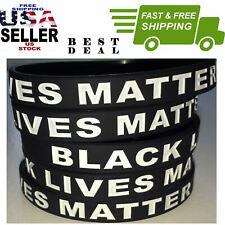 (5) BLACK LIVES MATTER Silicone Wrist Band Bracelet Wristband Support  US Seller