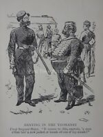 Soldier Military War TROOP SGT MAJOR BANTING IN YEOMANRY Antique Punch Cartoon