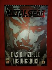 Metal Gear Solid Lösungsbuch PlayStation Konami ungelesen und neuwertig