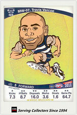 2011 AFL Teamcoach Cards Magic Wild Card MW7 Travis Varcoe (Geelong)