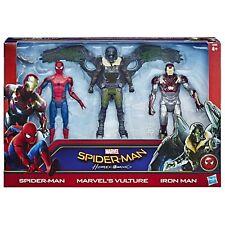 SPIDER-MAN ritorno a casa web CITY 6-Inch 3 FIGURE SPIDERMAN IRONMAN e avvoltoio